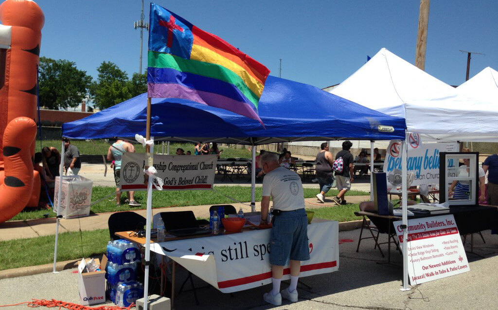 Our Fellowship Congregational Church booth at PRIDE