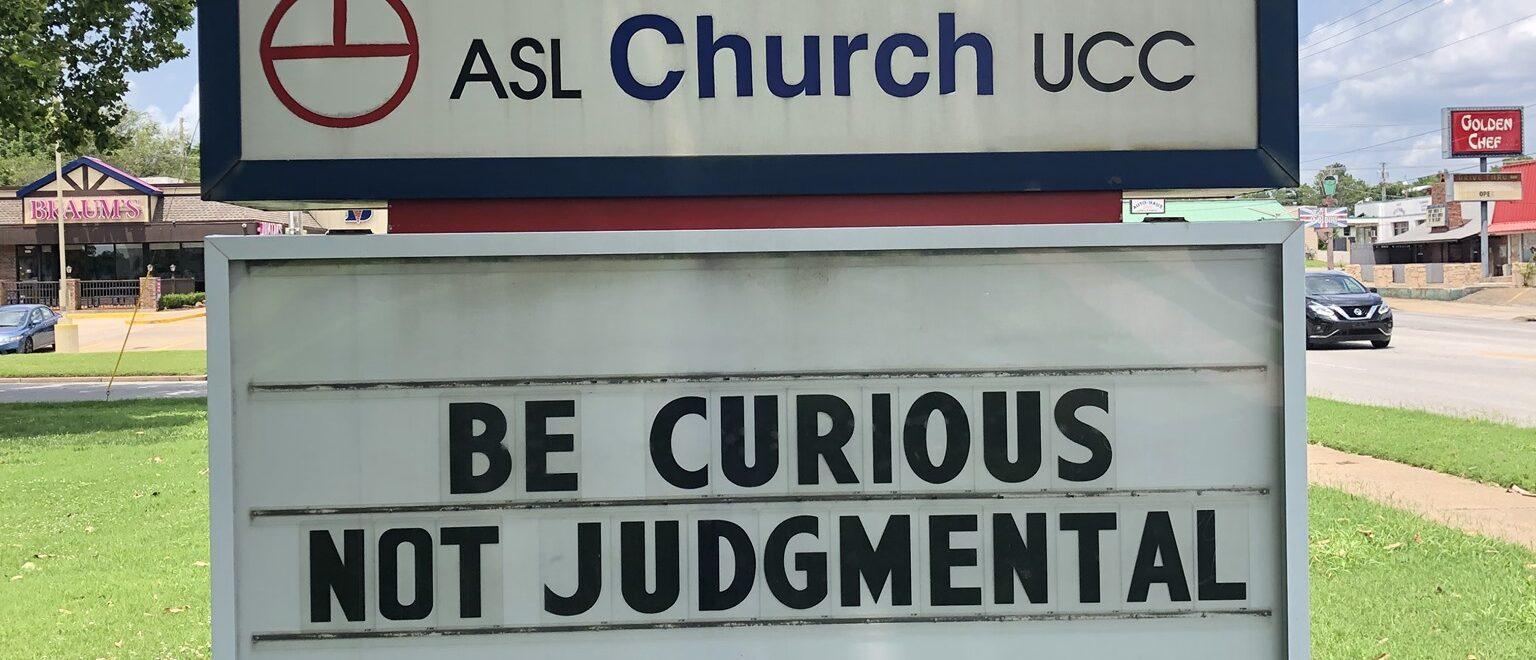 The sign outside Fellowhip Congregational Church